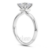 Rounded shank comfort fit princess center engagement ring