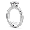 Rounded shank four prong classic engagement ring