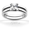V prong princes cut solitaire engagement ring
