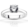 Classic basket setting solitaire engagement ring