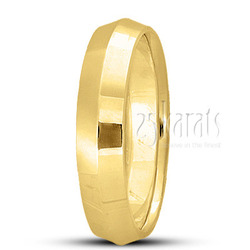 Knife edge wedding band