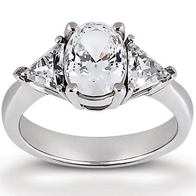 trillion cut three stone diamond engagement ring ct. Black Bedroom Furniture Sets. Home Design Ideas