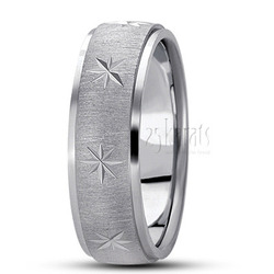 Diamond carved wedding ring