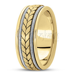 Hand made woven wedding ring