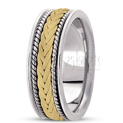 Hand made woven wedding band