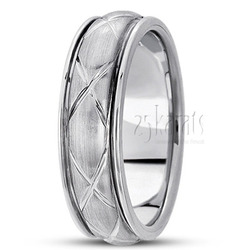 Hand made contemporary wedding band
