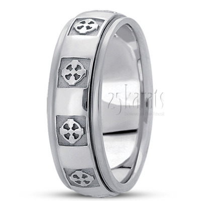 hc100279 - Cross Wedding Rings