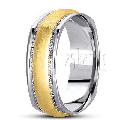 Bsq100459 Previous Basic Carved Square Wedding Band