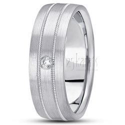 Diamond classic round wedding rings