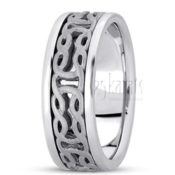 Hand made celtic wedding band
