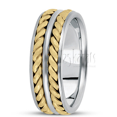 Exquisite Hand Woven Wedding Band