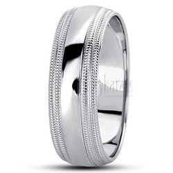 Basic carved simple wedding ring