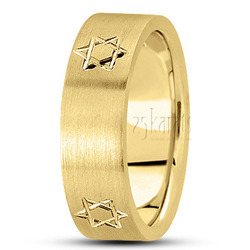 Basic carved religious wedding band
