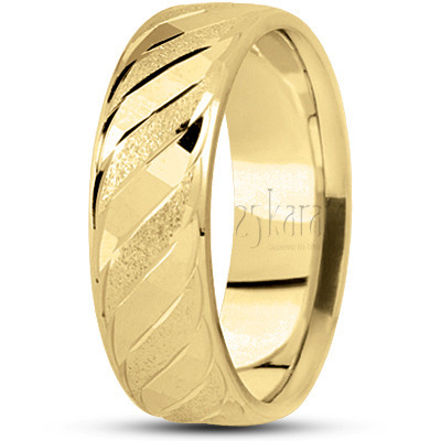 5054bc678a8 14K Gold Braid Motif Carved Design Wedding Ring. This beautiful 7mm wide Diamond  Cut ...