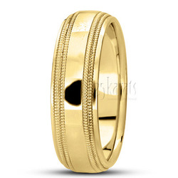 Basic carved simple wedding bands