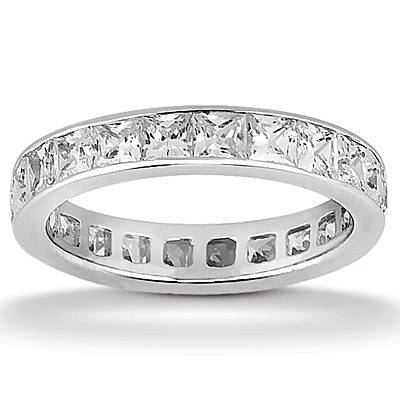 sets wedding eternity cut and set com princess diamond channel bands band rings