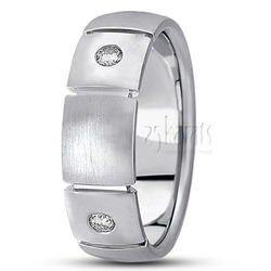 Classic round diamond wedding band