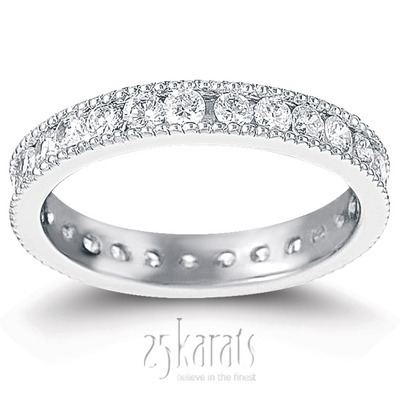 Channel Set Diamond Eternity Wedding Bands And Rings