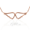 Awp14kp001 rosa 14k rose gold solid angel wings pendant