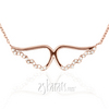 Awp14kp002 rhea 14k rose gold diamond angel wings pendant