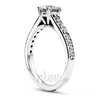 Basket center classic diamond engagement ring