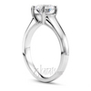 Desiner four prong opben basket style solitaire diamond engagement ring