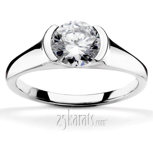 Bezel set Engagement Rings Certified Diamonds Design Your Own