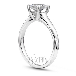 Square shank v tip princess cut center solitaire engagement ring