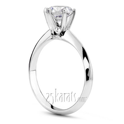 Knife edge classic solitaire with tiffany head