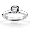 Four prong classic solitaire engagement ring