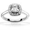 Cushion center halo diamond engagement ring