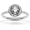 Halo pave set diamond engagement ring