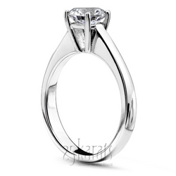 High set basket center solitaire ring