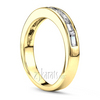 Baguette channel set gold anniversary band