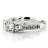 Ens7955 r trellis setting three stone diamond engagement ring