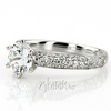 Enr7552 pd trellis center micro pave engagement ring