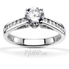 Channel set with pave set fancy bridge diamond engagement ring