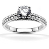 Split shank pave set diamond engagement ring