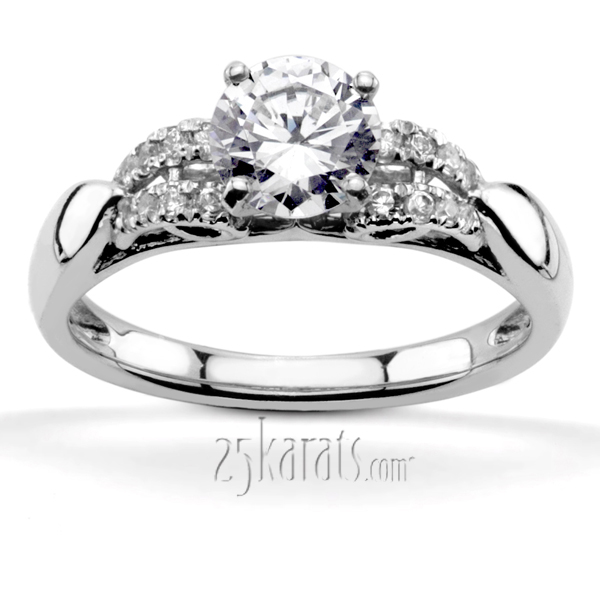 Diamond Accent Engagement Rings Engagement Rings with Side Stones