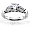 Contemporary design pave set diamond engagement ring