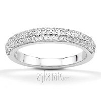 Bridal set matching band anniversary ring