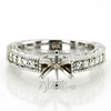 Ens6651 r antique engraved diamond engagement ring