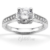 Antique pave set diamond engagement ring