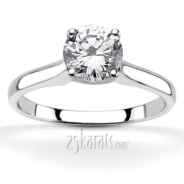 Cathedral Style Solitaire Diamond Engagement Ring