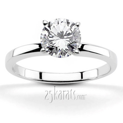 Classic tiffany setting four prong solitaire engagement ring