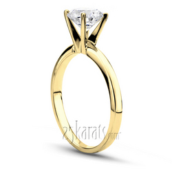 Yellow gold tiffany setting solitaire