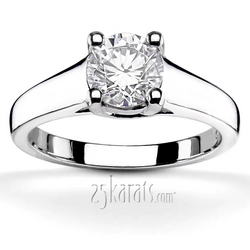 Classic trellis tiffany style 4 prong solitaire ring