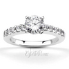 Shared prong set classic diamond engagement ring