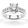Trellis tiffany setting diamond engagement ring with channel set diamonds