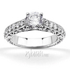 Scroll work filigree diamond engagement ring